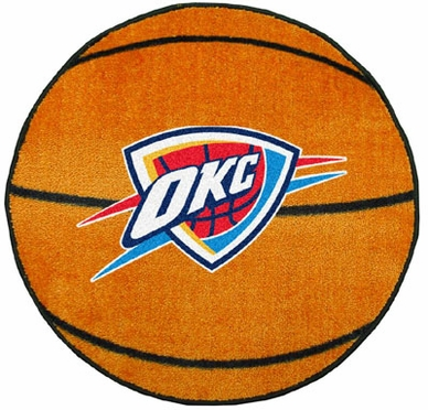Oklahoma City Thunder Basketball Shaped Rug