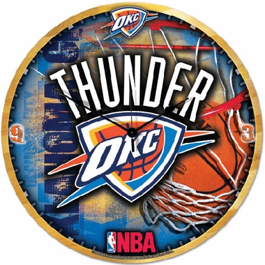 Oklahoma City Thunder Big 18 Inch Hi Definition Clock