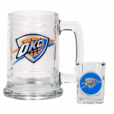 Oklahoma City Thunder Boilermaker Set