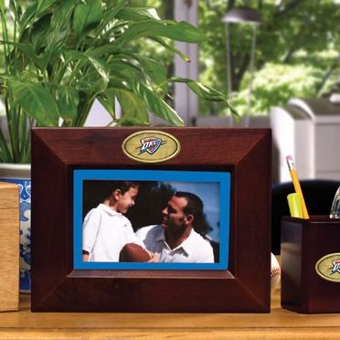 Oklahoma City Thunder BROWN Landscape Picture Frame