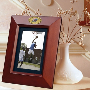 Oklahoma City Thunder BROWN Portrait Picture Frame