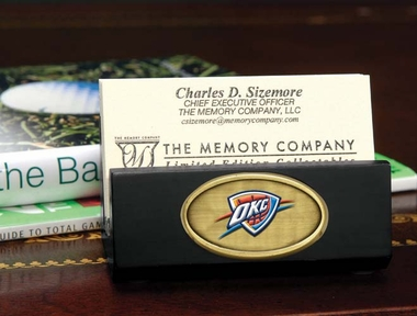 Oklahoma City Thunder Business Card Holder (Black)