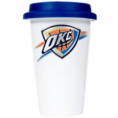 Oklahoma City Thunder Ceramic Travel Cup (Team Color Lid)