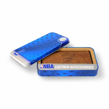 Oklahoma City Thunder Embossed Leather Checkbook Cover