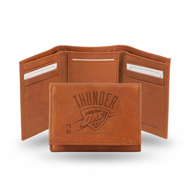 Oklahoma City Thunder Embossed Leather Trifold Wallet