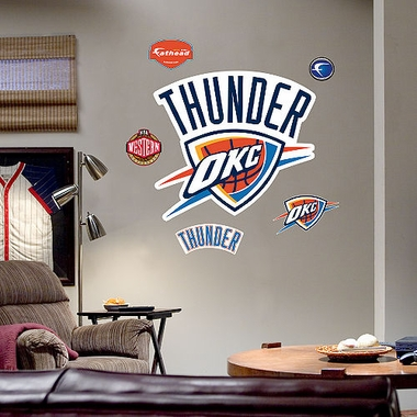 Oklahoma City Thunder Fathead Wall Graphic