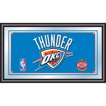 Oklahoma City Thunder Framed Logo Bar Mirror