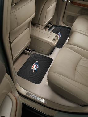 Oklahoma City Thunder SET OF 2 Heavy Duty Vinyl Rear Car Mats