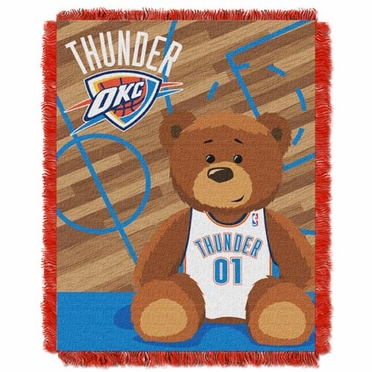 Oklahoma City Thunder Jacquard BABY Throw Blanket