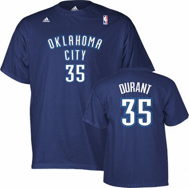 Oklahoma City Thunder Kevin Durant Player Name and Number T-Shirt