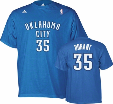 Oklahoma City Thunder Kevin Durant Player T-Shirt (Light Blue)