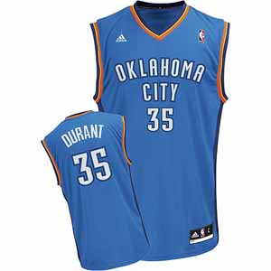 Oklahoma City Thunder Kevin Durant Replica YOUTH Jersey - X-Large