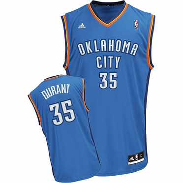 Oklahoma City Thunder Kevin Durant Team Color Revolution Replica Jersey