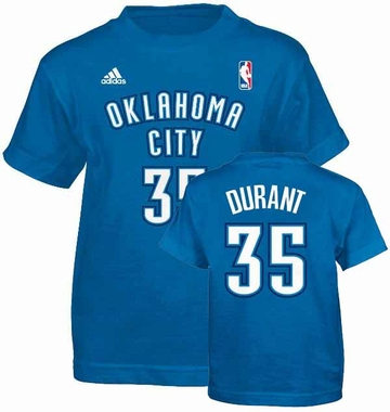 Oklahoma City Thunder Kevin Durant YOUTH Player T-Shirt
