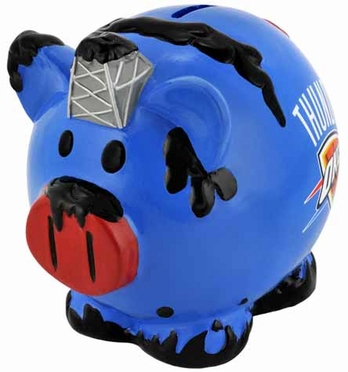 Oklahoma City Thunder Large Thematic Piggy Bank