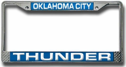 Oklahoma City Thunder Laser Etched Chrome License Plate Frame