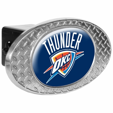Oklahoma City Thunder Metal Diamond Plate Trailer Hitch Cover