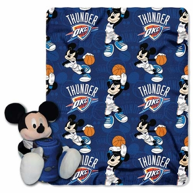 Oklahoma City Thunder Mickey Hugger with Small Fleece Throw