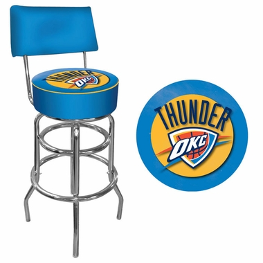 Oklahoma City Thunder Padded Bar Stool with Back