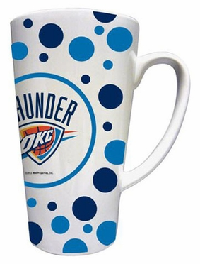 Oklahoma City Thunder Polkadot 16 oz. Ceramic Latte Mug