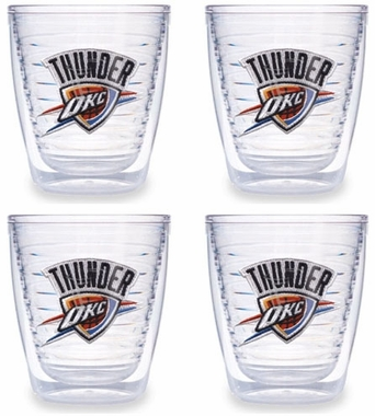 Oklahoma City Thunder Set of FOUR 12 oz. Tervis Tumblers