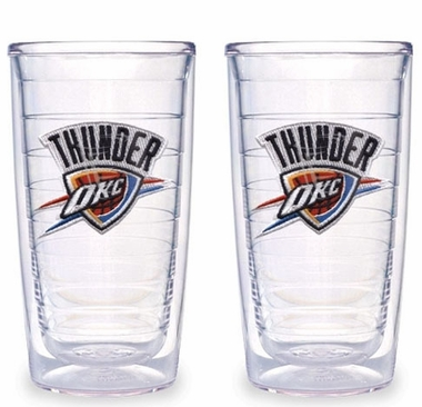 Oklahoma City Thunder Set of TWO 16 oz. Tervis Tumblers