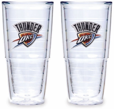 Oklahoma City Thunder Set of TWO 24 oz. Tervis Tumblers