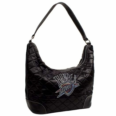 Oklahoma City Thunder Sport Noir Quilted Hobo