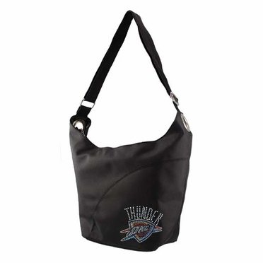 Oklahoma City Thunder Sport Noir Sheen Hobo Purse