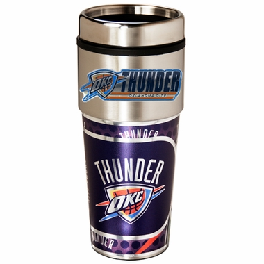 Oklahoma City Thunder Travel Tumbler with Hi-Def Graphics