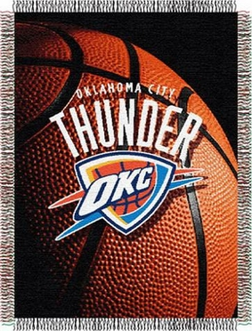 Oklahoma City Thunder Woven Tapestry Blanket