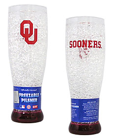 Oklahoma Sooners Crystal Pilsner Glass
