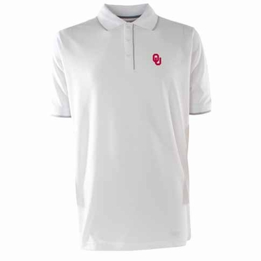 Oklahoma Mens Elite Polo Shirt (Color: White)