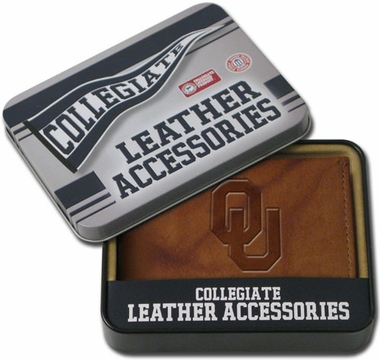 Oklahoma Embossed Leather Bifold Wallet