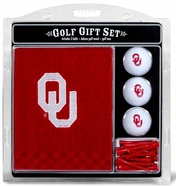 Oklahoma Embroidered Towel Golf Gift Set