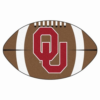 Oklahoma Football Shaped Rug