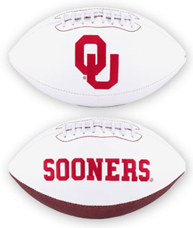 Oklahoma Full Size Embroidered Football