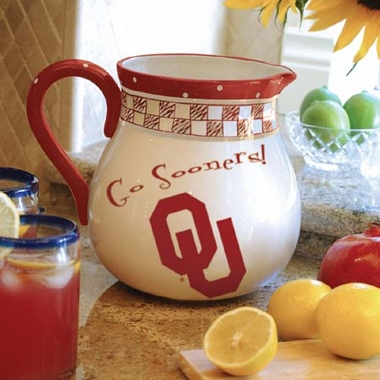 Oklahoma Gameday Ceramic Pitcher
