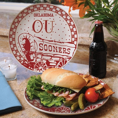 Oklahoma Gameday Ceramic Plate