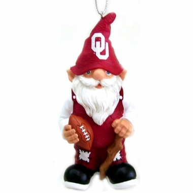 Oklahoma Gnome Christmas Ornament