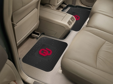 Oklahoma SET OF 2 Heavy Duty Vinyl Rear Car Mats