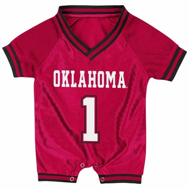 Oklahoma Infant Pounce Football Jersey Onesie