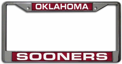 Oklahoma Laser Etched Chrome License Plate Frame