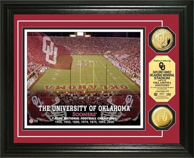Oklahoma Sooners University of Oklahoma Gold Coin Photo Mint