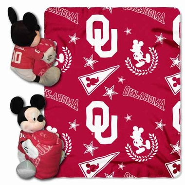 Oklahoma Mickey Mouse Pillow / Throw Combo