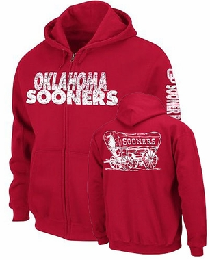 Oklahoma No Reservations Full Zip Hooded Sweatshirt