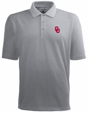 Oklahoma Mens Pique Xtra Lite Polo Shirt (Color: Gray)