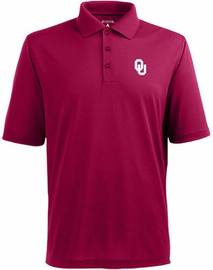 Oklahoma Mens Pique Xtra Lite Polo Shirt (Team Color: Maroon)