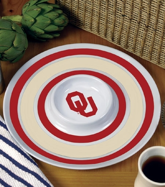 Oklahoma Plastic Chip and Dip Plate
