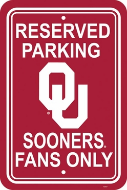 Oklahoma Plastic Parking Sign (P)